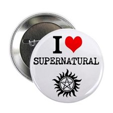 "I love Supernatural 2.25"" Button"