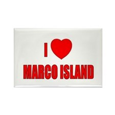 I Love Marco Island, Florida Rectangle Magnet (10