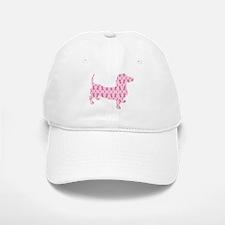 Pink Ribbon Cancer Doxie Baseball Baseball Baseball Cap