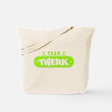 Neon Green Team Twerk Tote Bag
