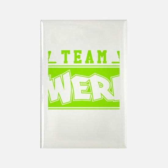 Neon Green Team Twerk Rectangle Magnet