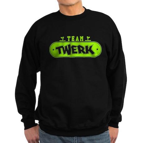 Neon Green Team Twerk Dark Sweatshirt
