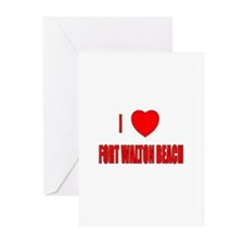 I Love Fort Walton Beach, Flo Greeting Cards (Pack