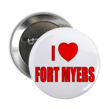 """I Love Fort Myers, Florida 2.25"""" Button (100 pack)"""