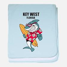 Key West, Florida baby blanket