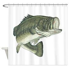 big bass Shower Curtain