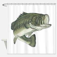 big bass Shower Curtain