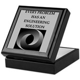 Mechanical engineer funny Square Keepsake Boxes