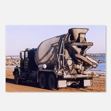 Cement Mixer Truck #1 photo d Postcards (Package o