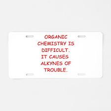 organic chemistry Aluminum License Plate