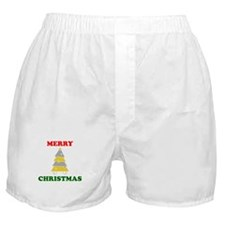 Merry Christmas Tree Boxer Shorts