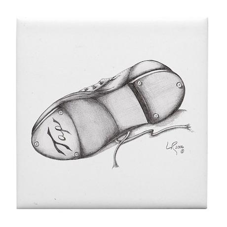 Pencil - Jazz Tap Shoe Tile Coaster