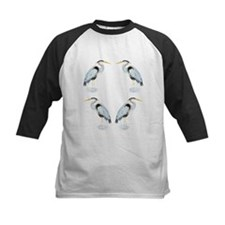 Watercolor Great Blue Heron Bird Baseball Jersey