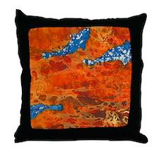 Orange Stream Throw Pillow
