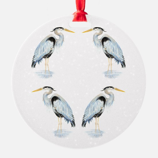 Watercolor Great Blue Heron Bird Ornament