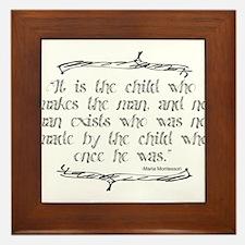 The Child Makes the Man Framed Tile