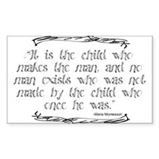 The Child Makes the Man Decal