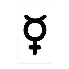 Mercury Symbol Rectangle Decal