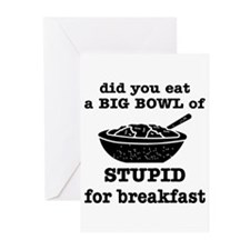 A Big Bowl Of Stupid Greeting Cards (Pk of 20)