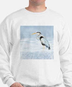 Watercolor Great Blue Heron Bird Sweater