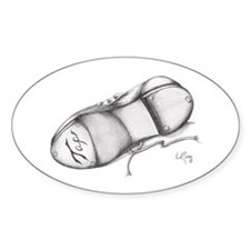 Pencil - Jazz Tap Shoe Oval Decal