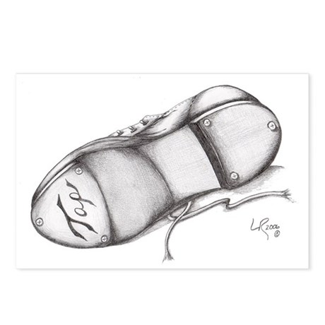 Pencil - Jazz Tap Shoe Postcards (Package of 8)