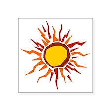 """Sun squint Square Sticker 3"""" x 3"""""""