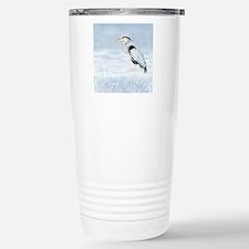 Watercolor Great Blue Heron Bird Travel Mug