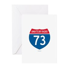 Amateur Radio Interstate Sign Greeting Cards (Pack