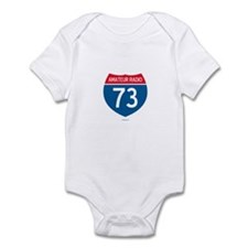 Amateur Radio Interstate Sign Infant Bodysuit