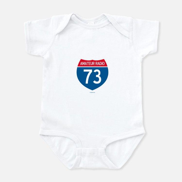 Amateur Radio Interstate Sign Infant Bodysuit