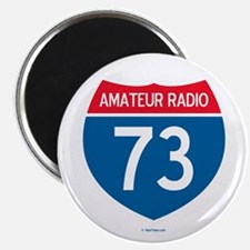 "Amateur Radio Interstate Sign 2.25"" Magnet (10 pac"