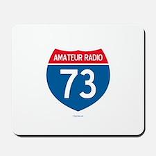 Amateur Radio Interstate Sign Mousepad