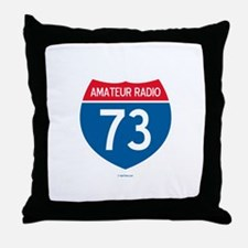 Amateur Radio Interstate Sign Throw Pillow