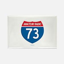 Amateur Radio Interstate Sign Rectangle Magnet
