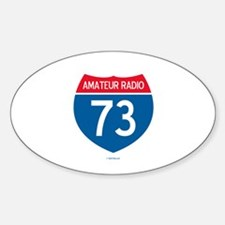 Amateur Radio Interstate Sign Oval Decal