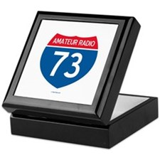 Amateur Radio Interstate Sign Keepsake Box