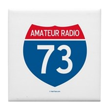 Amateur Radio Interstate Sign Tile Coaster