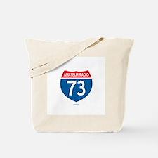 Amateur Radio Interstate Sign Tote Bag