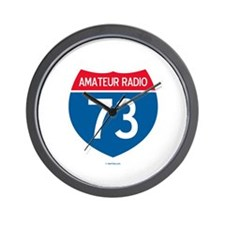 Amateur Radio Interstate Sign Wall Clock