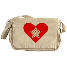 Christmas Star Heart Messenger Bag