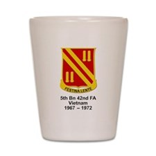 5th Bn, 42nd Field Artillery Shot Glass