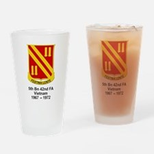 5th Bn, 42nd Field Artillery Drinking Glass