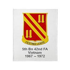 5th Bn, 42nd Field Artillery Throw Blanket