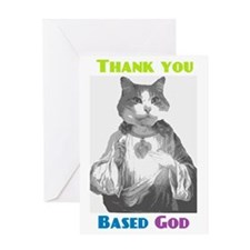 Based Cat Greeting Card