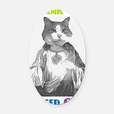 Based Cat Oval Car Magnet