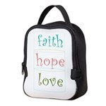 Faith Hope Love Neoprene Lunch Bag