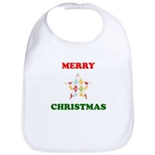 Merry Christmas Star Bib