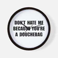 Douchebag Wall Clock