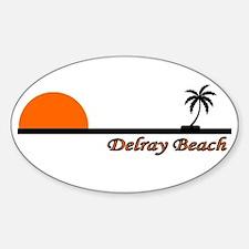 Delray Beach, Florida Oval Bumper Stickers